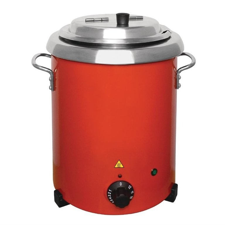 Buffalo electric red soup kettle 5.7 Ltr with handles