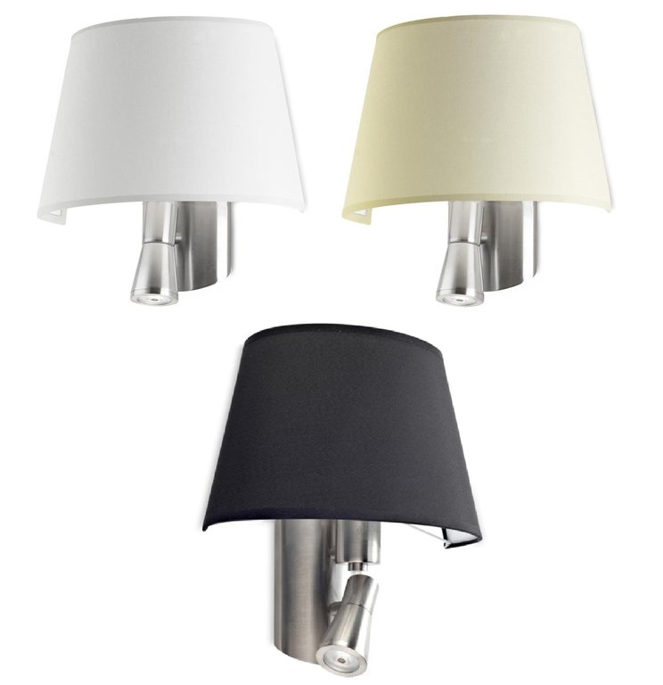 Balmoral wall light with LED reading lamp