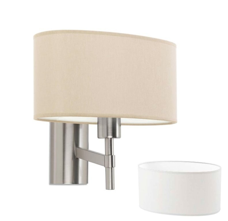 Bristol design wall fixture with lampshade