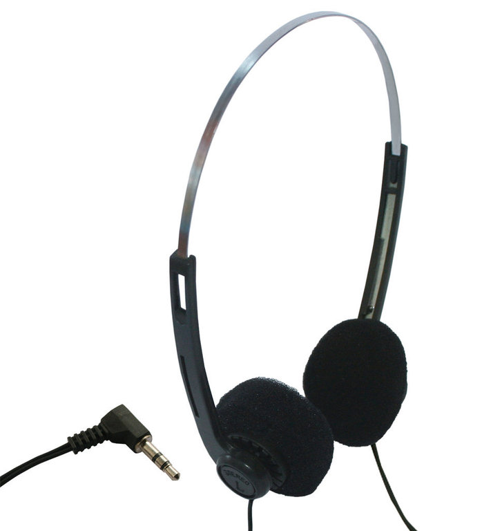 Casque audio jetable cordon 2 m