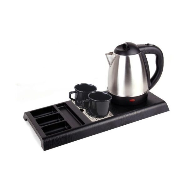 Set welcome tray with kettle and two cups