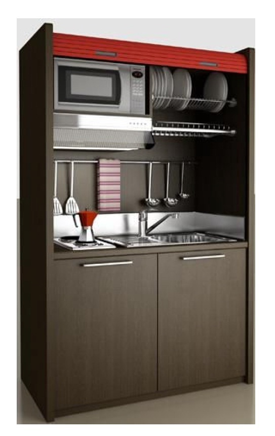 bloc kitchenette excellent the kitchenette has all that guests need to unwind after a busy day. Black Bedroom Furniture Sets. Home Design Ideas