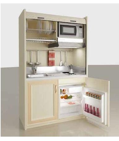 kitchenette armoire agrandir une kitchenette lumineuse en rouge et gris brillants prix trs. Black Bedroom Furniture Sets. Home Design Ideas