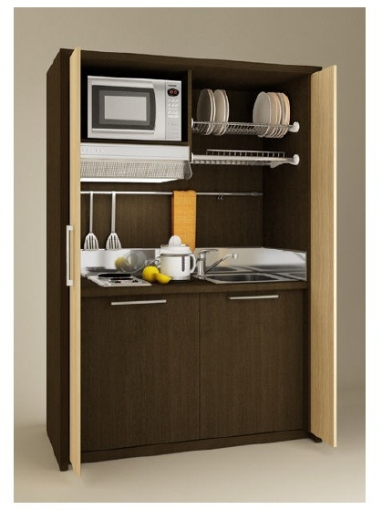 Meuble kitchenette kitchenette hotel equipement hotel for Equipement hotel