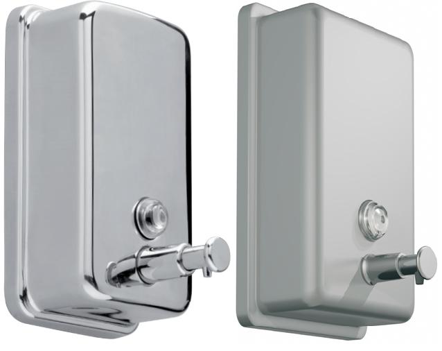 f38627129808ab Stainless steel wall-mounted soap dispenser Savinox 850ml