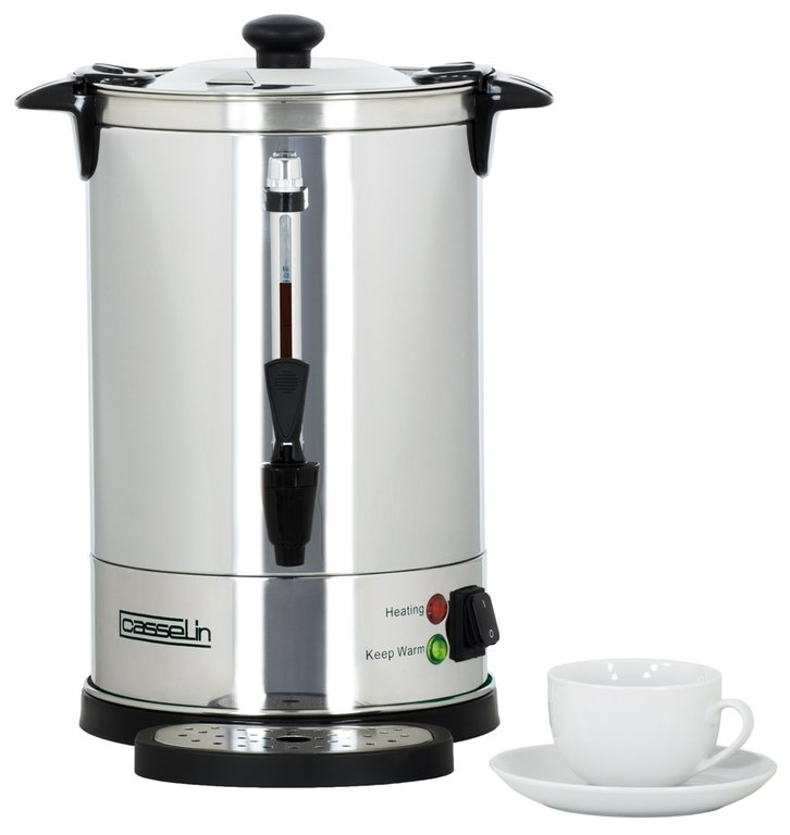 Stainless steel double wall percolator 48 cups - 6.8Ltr