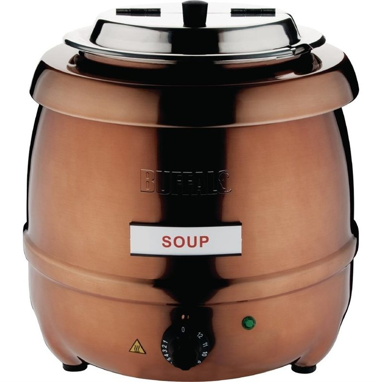 Buffalo electric copper finish soup kettle 10 Ltr
