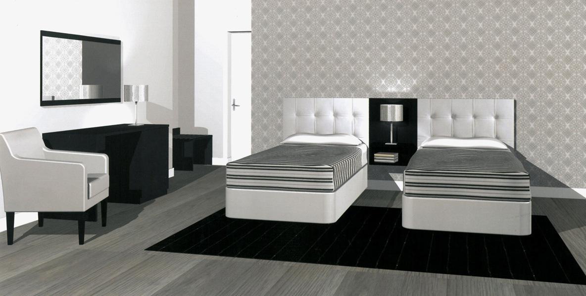 Mobilier de chambre hotel equipement hotel pas cher for Chambre mobilier