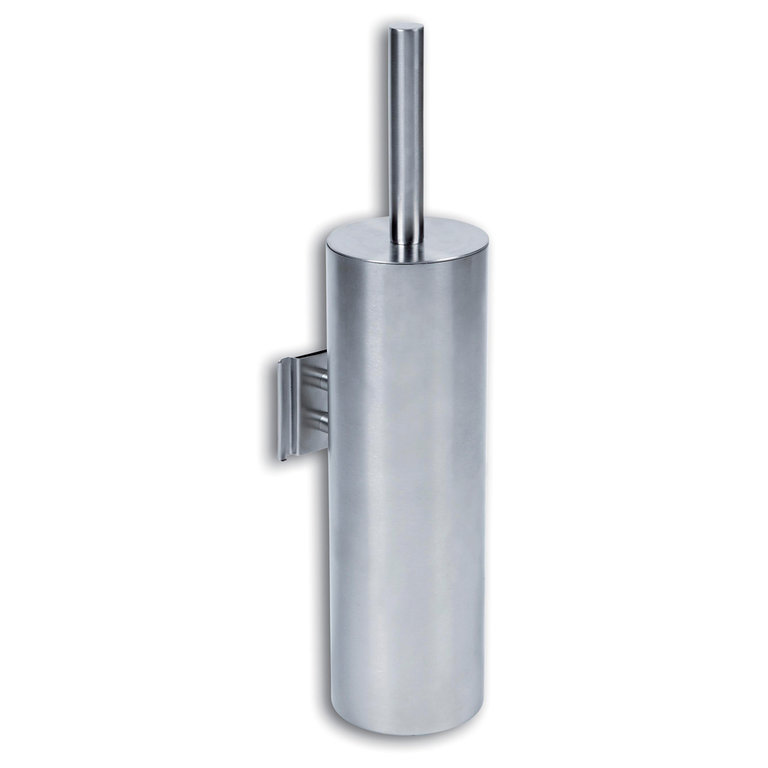 Wall mounted stainless steel toilet brush
