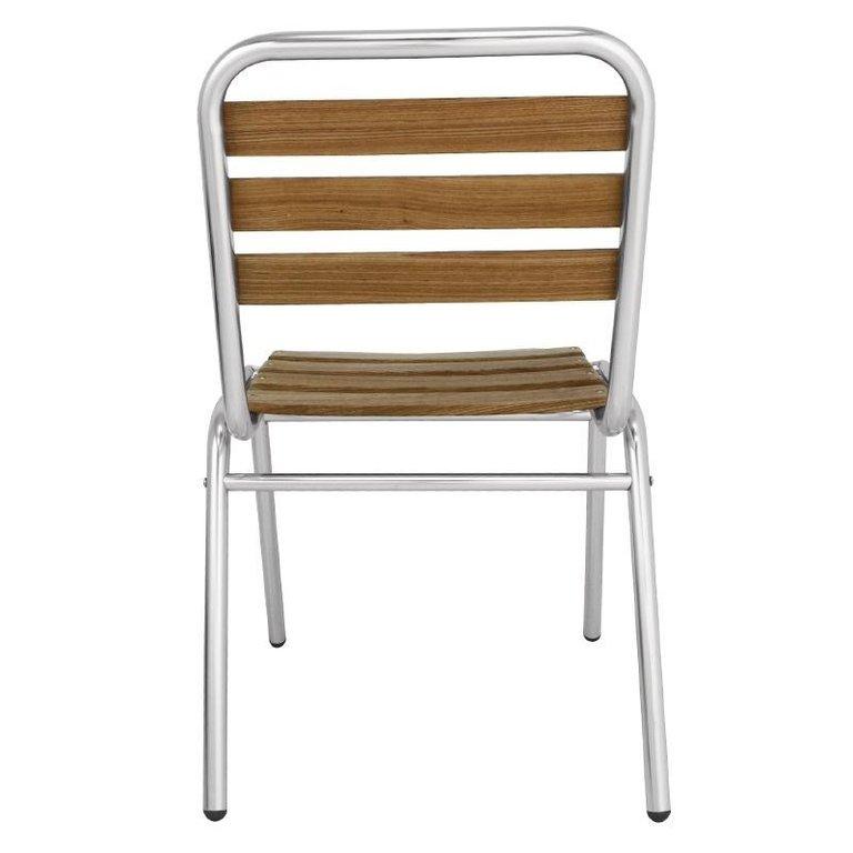 Bolero ash bistro side chair pack of 4 - Chaise aluminium bistro ...