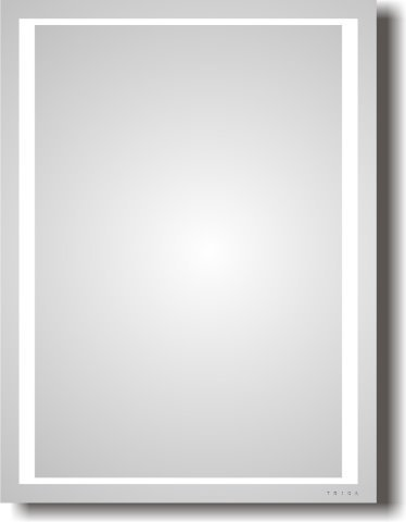 LED-illuminated mirror Square Triga
