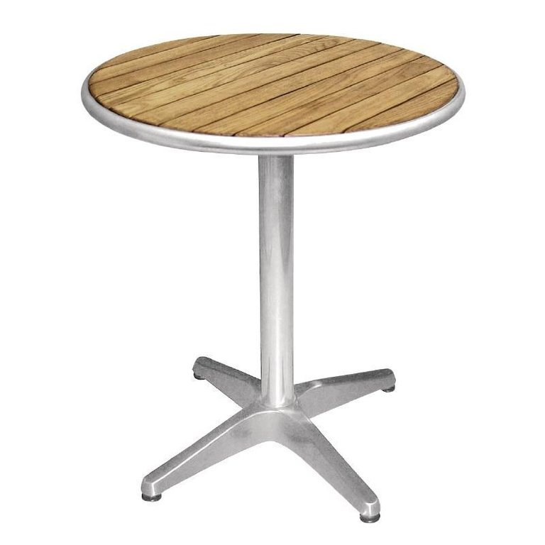 Ash Wood and Aluminium Round Table