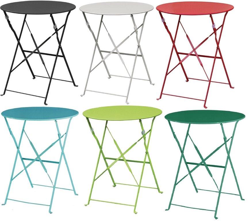 Table Ronde Terrasse table de terrasse ronde en acier bolero 60cm - www.cashotel.fr