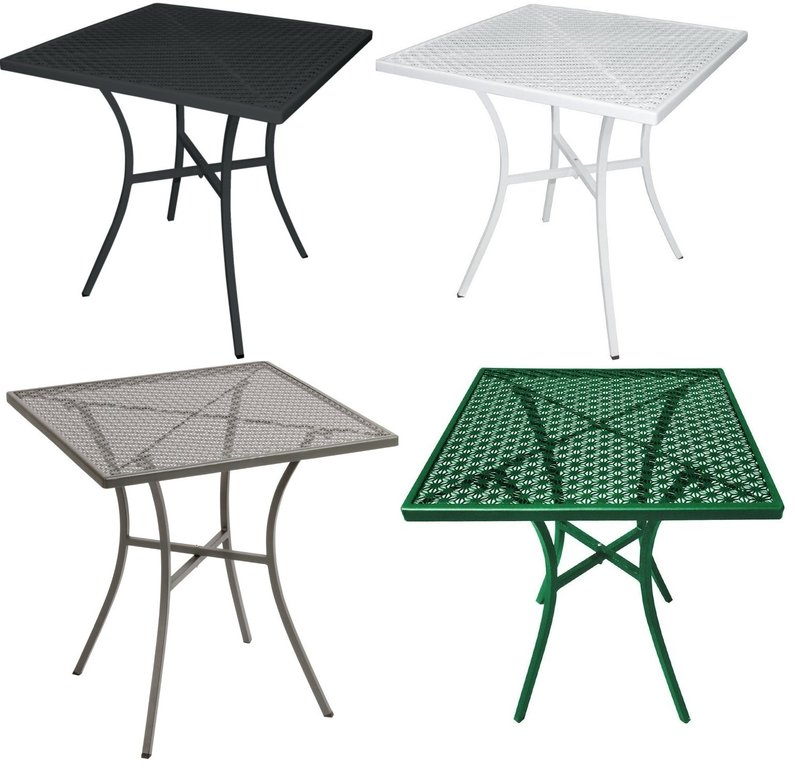 Bolero Steel Patterned Square Bistro Table 700mm