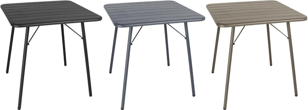 Bolero Slatted Square Steel Table 700mm