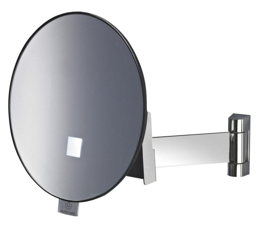 Eclips illuminated round mirror flat arm