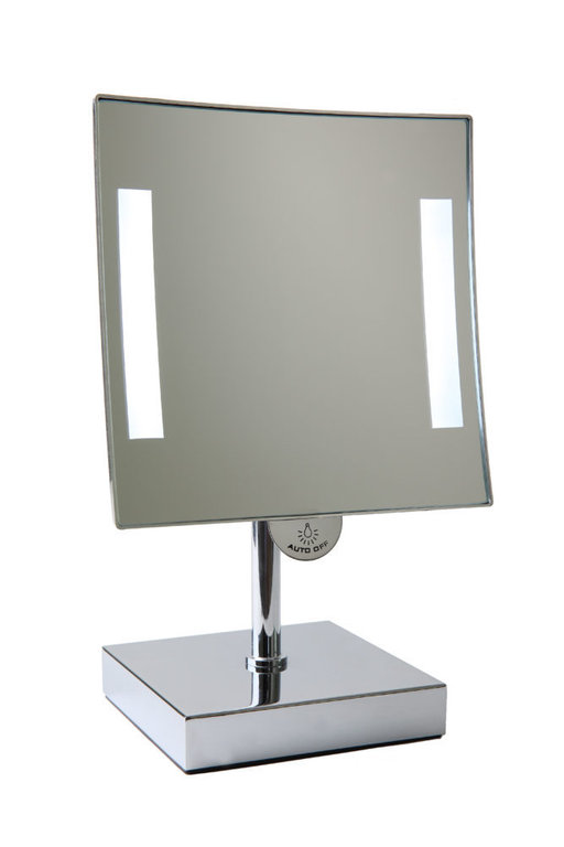 Galaxy light square mirror on stand