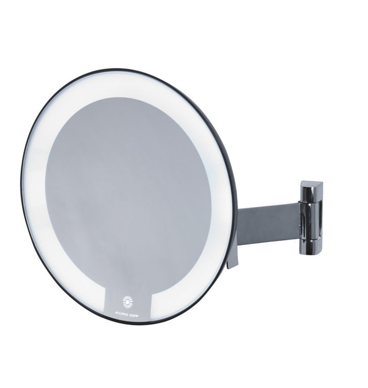 Cosmos illuminated round mirror flat arm