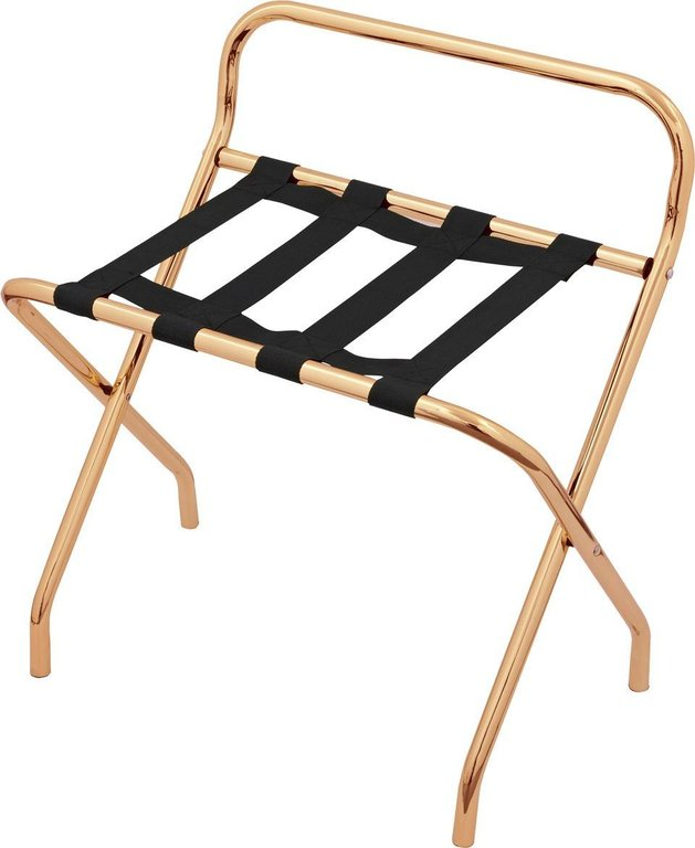 Luggage Rack Coppery Metal With Back ...