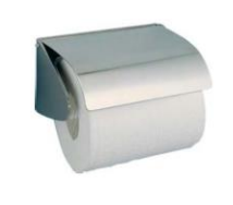 Stainless steel toilet paper dispenser with lid