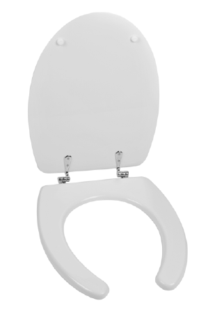 Ergonomic toilet seat and flap