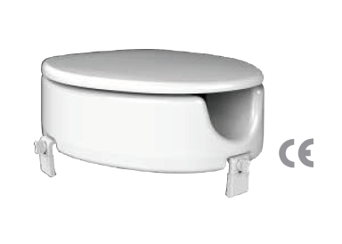 Toilet seat with raised seat