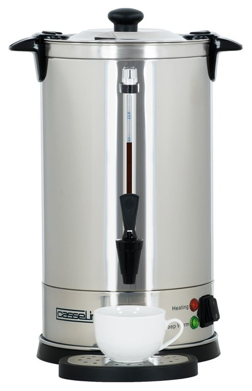 Stainless steel double wall percolator 60 cups - 8.8Ltr