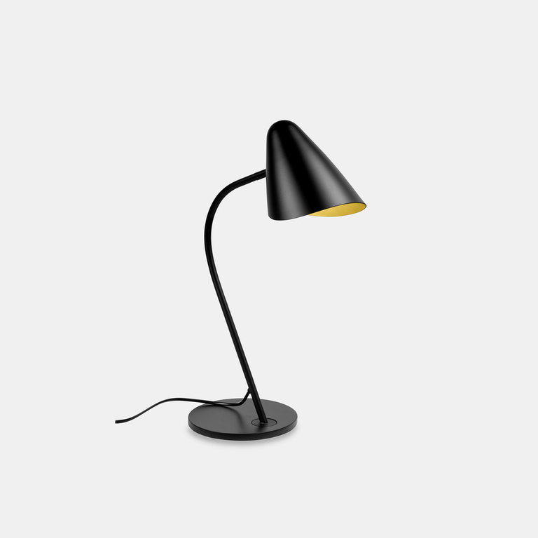 Organic design black table lamp