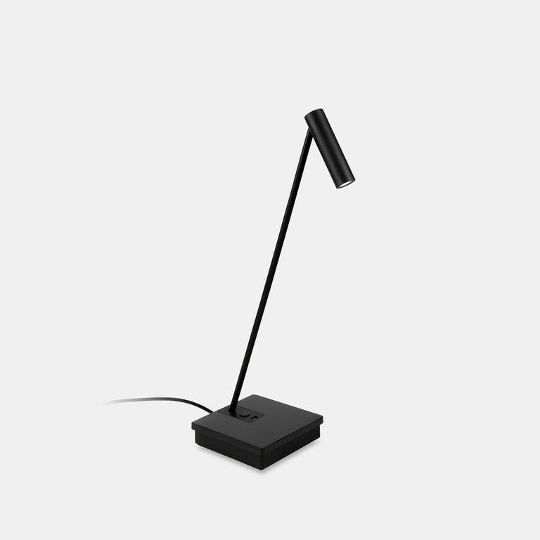 Elamp design black led table lamp with USB port
