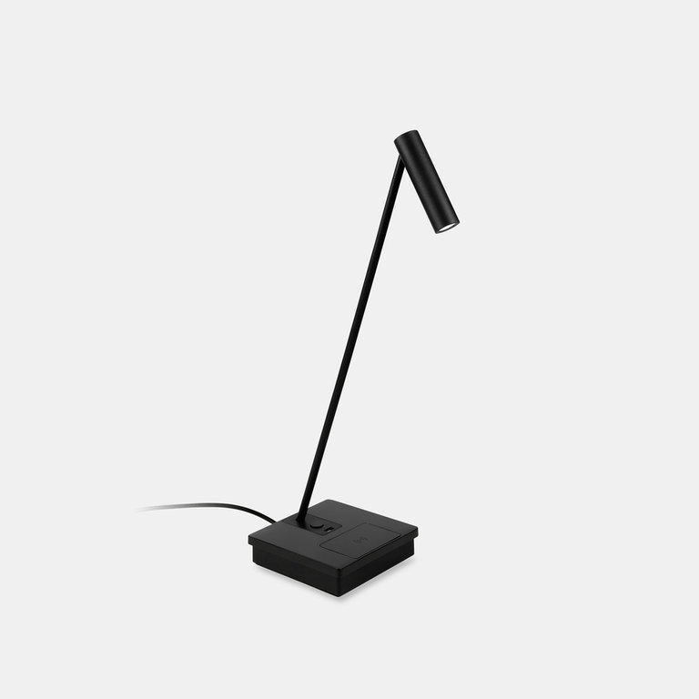 Elamp design black led table lamp with wireless charging