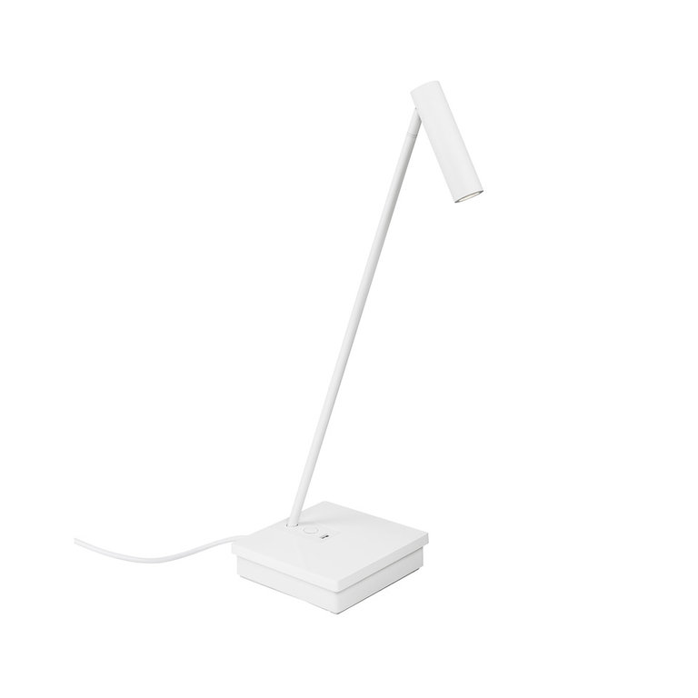 Elamp design white led table lamp with USB port