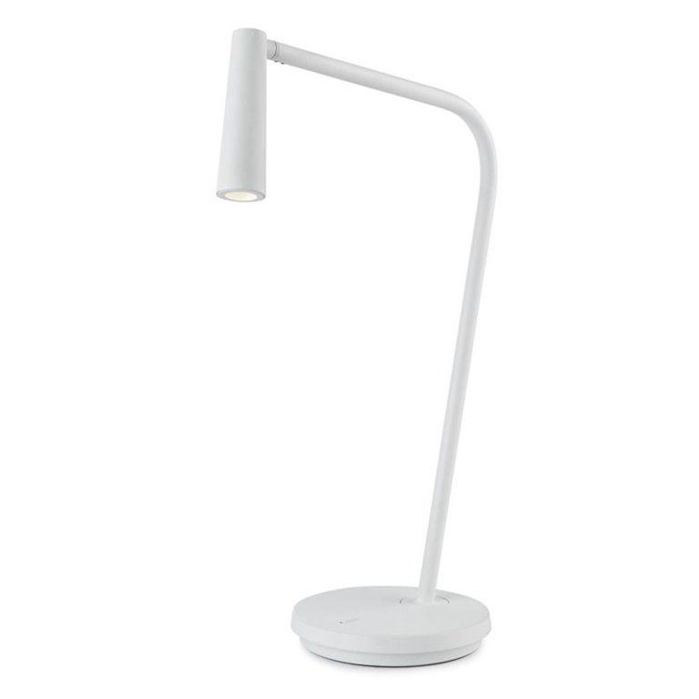 Gamma white designer led table lamp