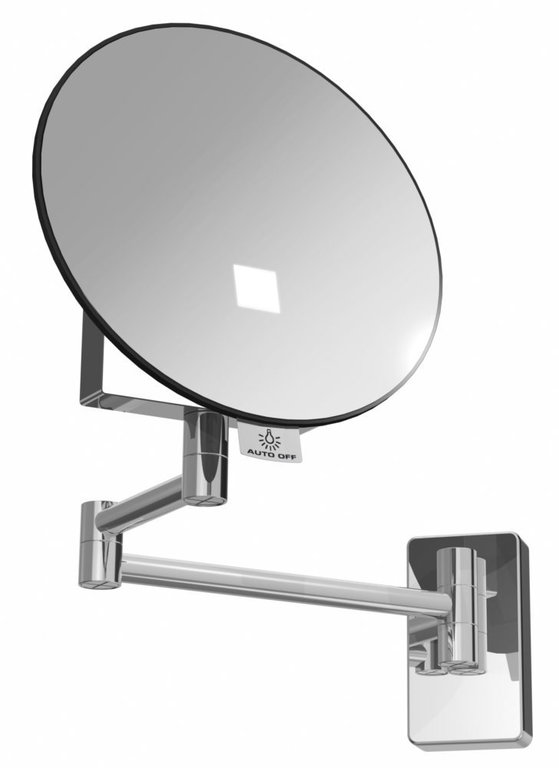 Eclips illuminated round mirror tubular arm