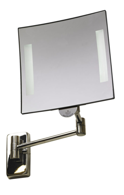 Galaxy illuminated square mirror tubular arm